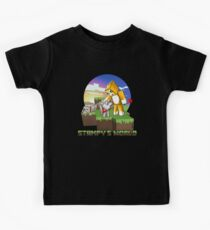 Mr Stampy cat and dogs at sunset Kids Tee