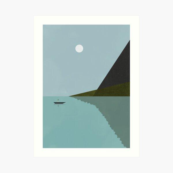 Sailing at night Art Print