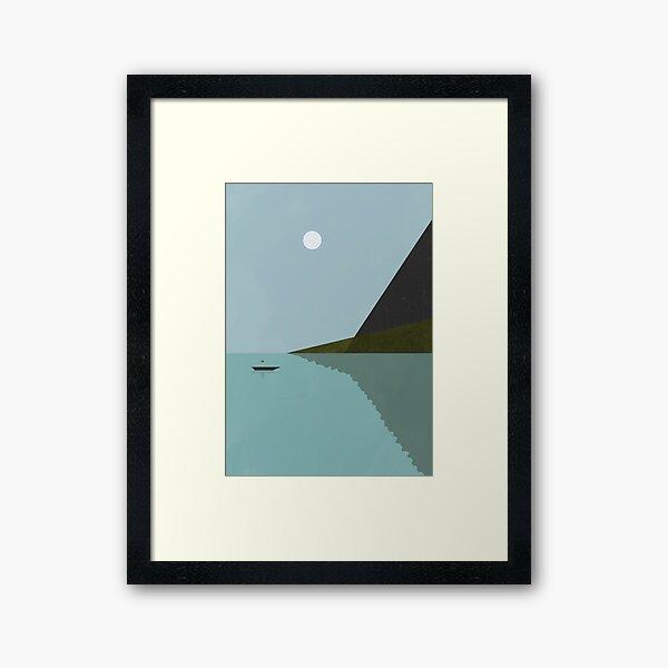Sailing at night Framed Art Print