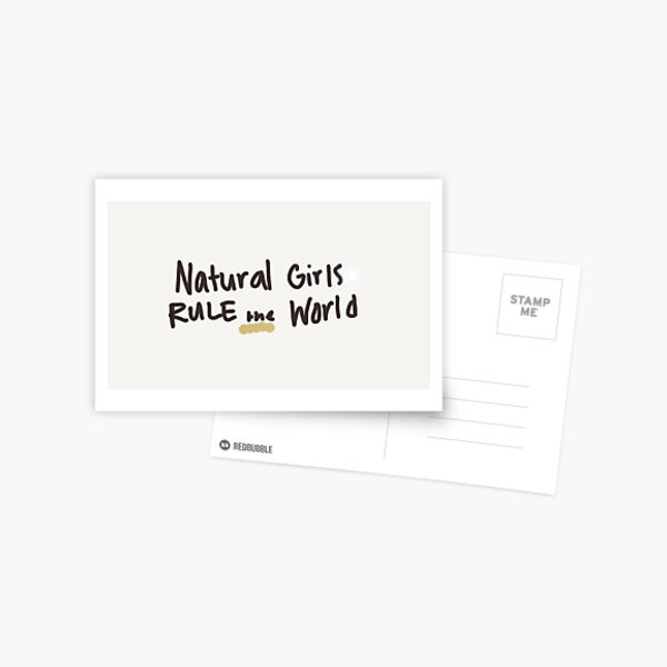 Natural Girls rule the World Postcard
