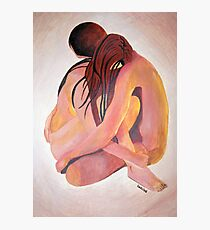 Intimate Couple Hugging and Staying In Touch  Photographic Print