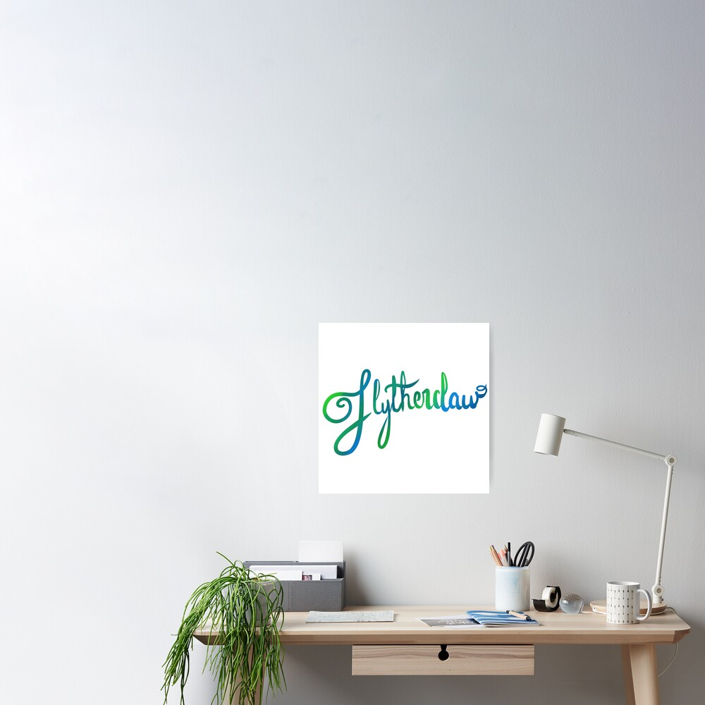 Slytherclaw Calligraphy Poster