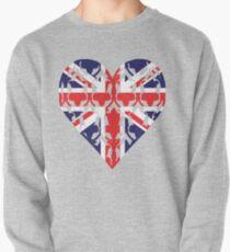 Union Jack Sherlock Wallpaper Heart Pullover