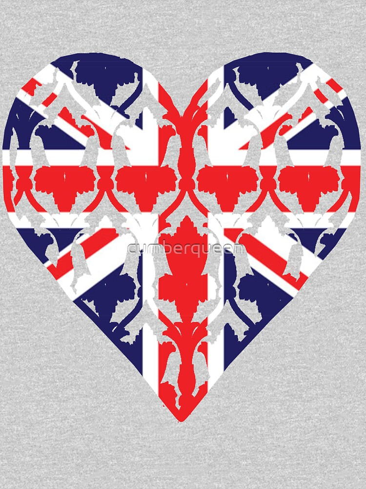 Union Jack Sherlock Wallpaper Heart | Women's T-Shirt