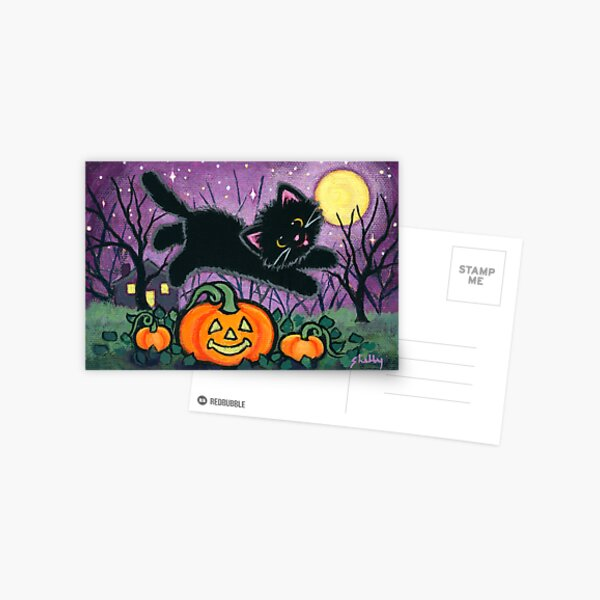 Jumping Pumpkins Postcard