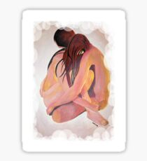 Intimate Couple Hugging and Staying In Touch  Sticker