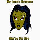 Evil Green Alien Woman - Same Side Now by Scott Ruhs