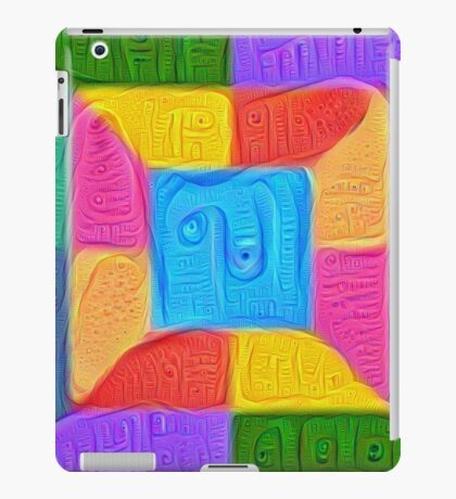 DeepDream Color Squares Visual Areas 5x5K v14 iPad Case/Skin