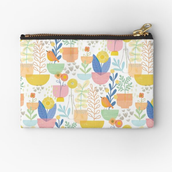 Birds and Blooms Zipper Pouch