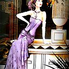 Art Deco Lady in Purple by ©The Creative  Minds