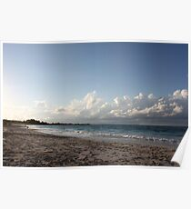Turks & Caicos shoreline at sunset Poster