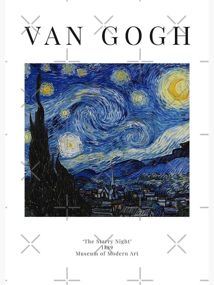 La noche estrellada - Vincent Van Gogh - Cartel de la exposición de studiofrivolo