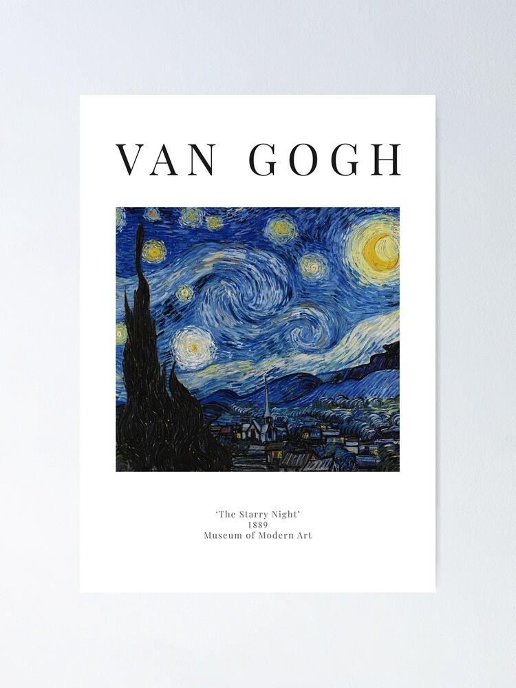 Vista alternativa de Póster La noche estrellada - Vincent Van Gogh - Cartel de la exposición