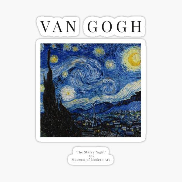 The Starry Night - Vincent Van Gogh - Exhibition Poster Sticker