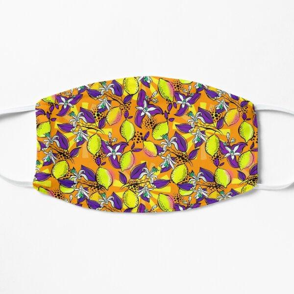 Popart Zitronen orange purple  Flache Maske