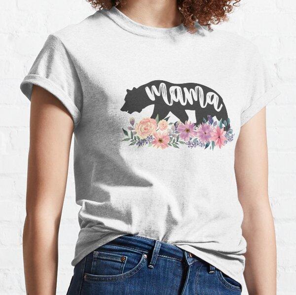 Mama Bär Blumen Aquarell Blumen Classic T-Shirt