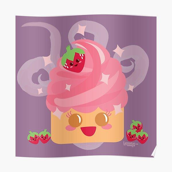 Yummy Cupcake Kawaiiness Poster