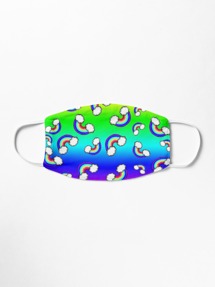 Alternate view of Falling Rainbows On Rainbow Background Mask