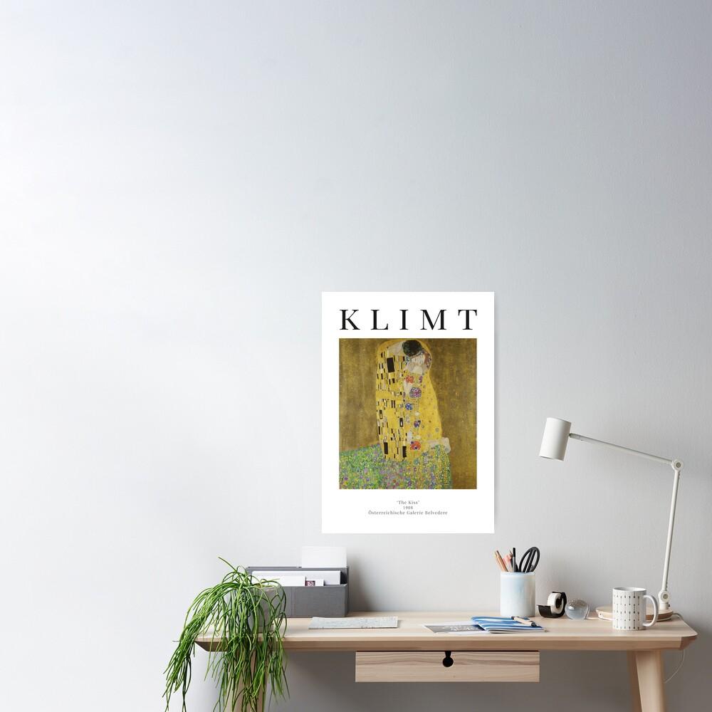 The Kiss - Gustav Klimt - Exhibition Poster Poster