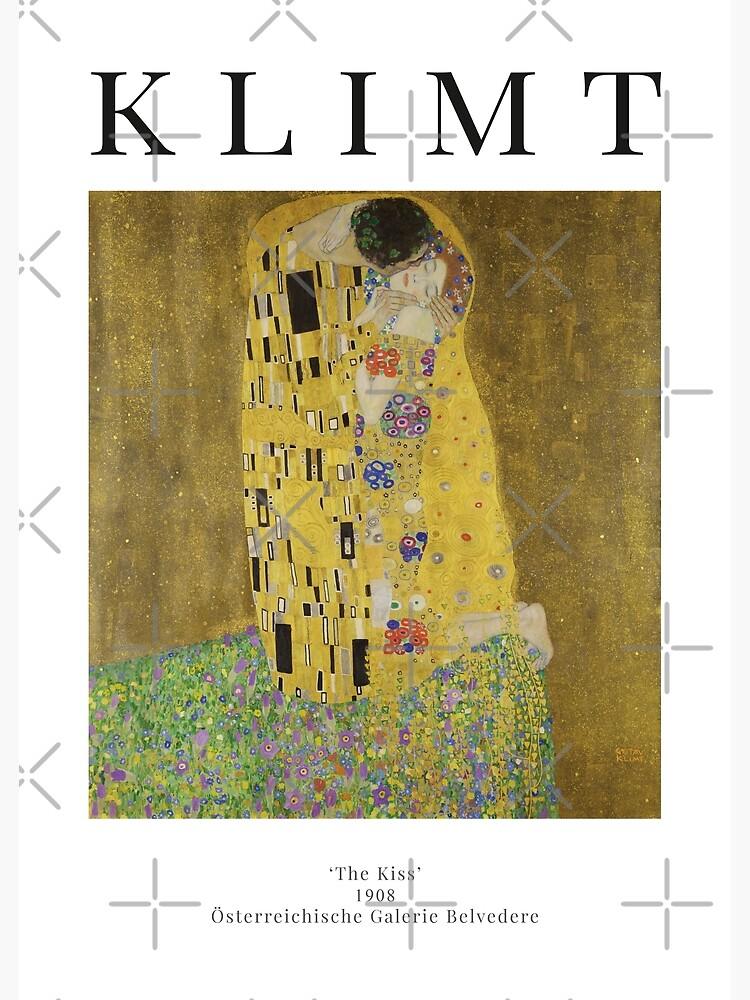 The Kiss - Gustav Klimt - Exhibition Poster by studiofrivolo
