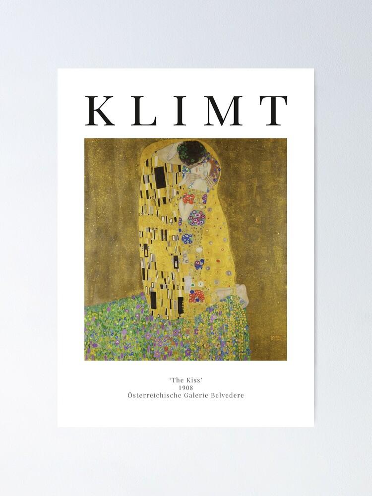 Alternate view of The Kiss - Gustav Klimt - Exhibition Poster Poster