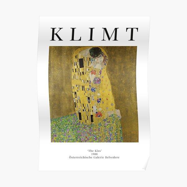 Le baiser - Gustav Klimt - Affiche d'exposition Poster