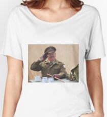 """""""You Stupid Boy"""" (Captain Mannering - Dads Army) Women's Relaxed Fit T-Shirt"""