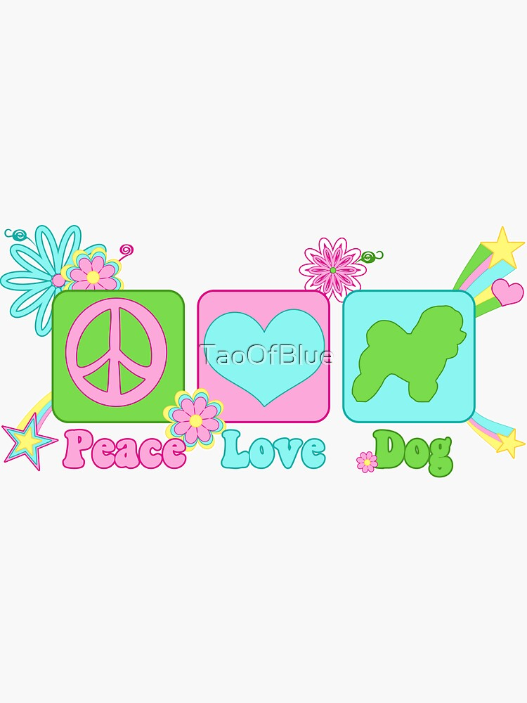 Peace, Love, Bichon by TaoOfBlue