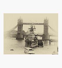 London bridge and the Royal Navy Photographic Print