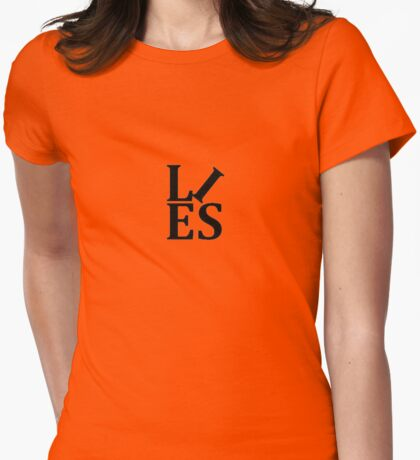 LIES Text Parody of the Love Statue T-Shirt
