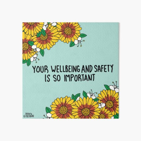 Your Wellbeing Art Board Print
