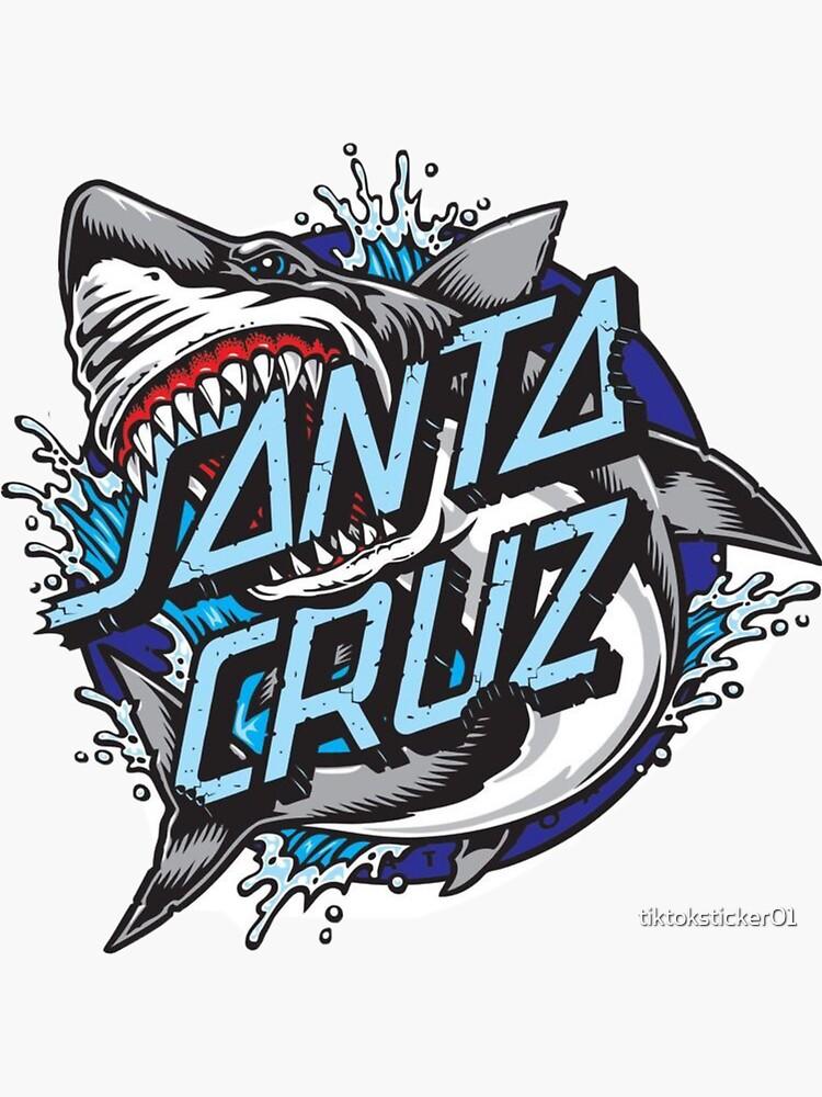 Santa cruz blue sticker by tiktoksticker01