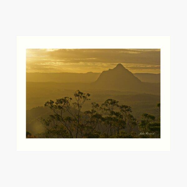 Beerwah, Glass House Mountains, Queensland Art Print