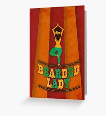 Bearded Lady Greeting Card