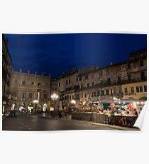 Piazza Erbe, Verona, Italy Poster