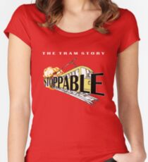 STOPPABLE - the tram story Women's Fitted Scoop T-Shirt