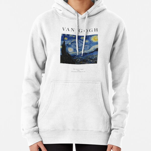 The Starry Night - Vincent Van Gogh - Exhibition Poster Pullover Hoodie