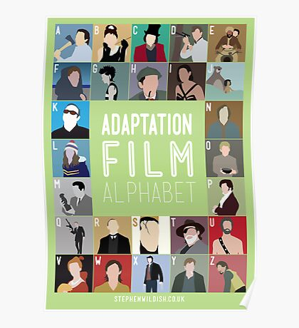 Adaptation Film Alphabet Poster
