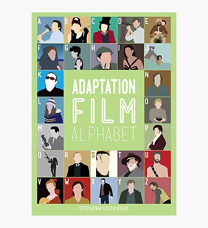 Adaptation Film Alphabet Photographic Print