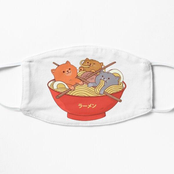Ramen cats t-shirt Flat Mask