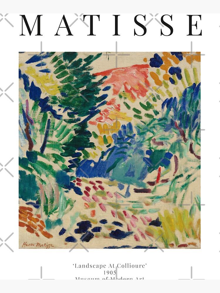 Henri Matisse - Landscape At Collioure - Exhibition Poster by studiofrivolo