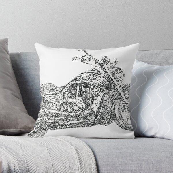 Fat Boy Rocker's Bike Throw Pillow