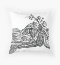 Fat Boy Rocker's Bike Throw Pillow