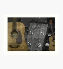 Martin And Co Guitars Art Print