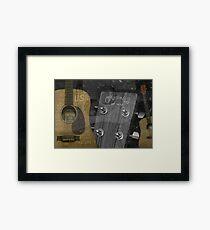 Lámina enmarcada Guitarras Martin y Co