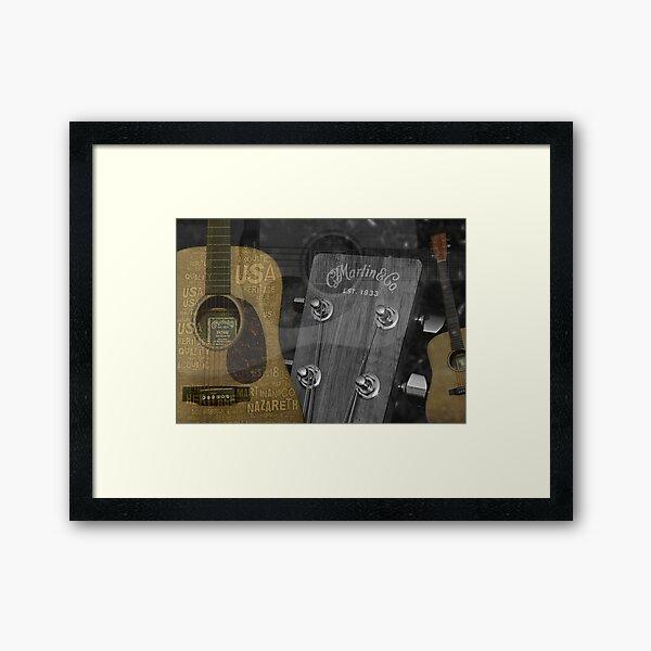 Martin and Co Guitars Framed Art Print
