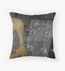 Martin and Co Guitars Throw Pillow