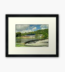 The Museum By The Weir Framed Print