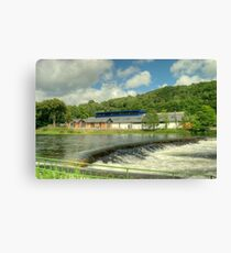 The Museum By The Weir Canvas Print