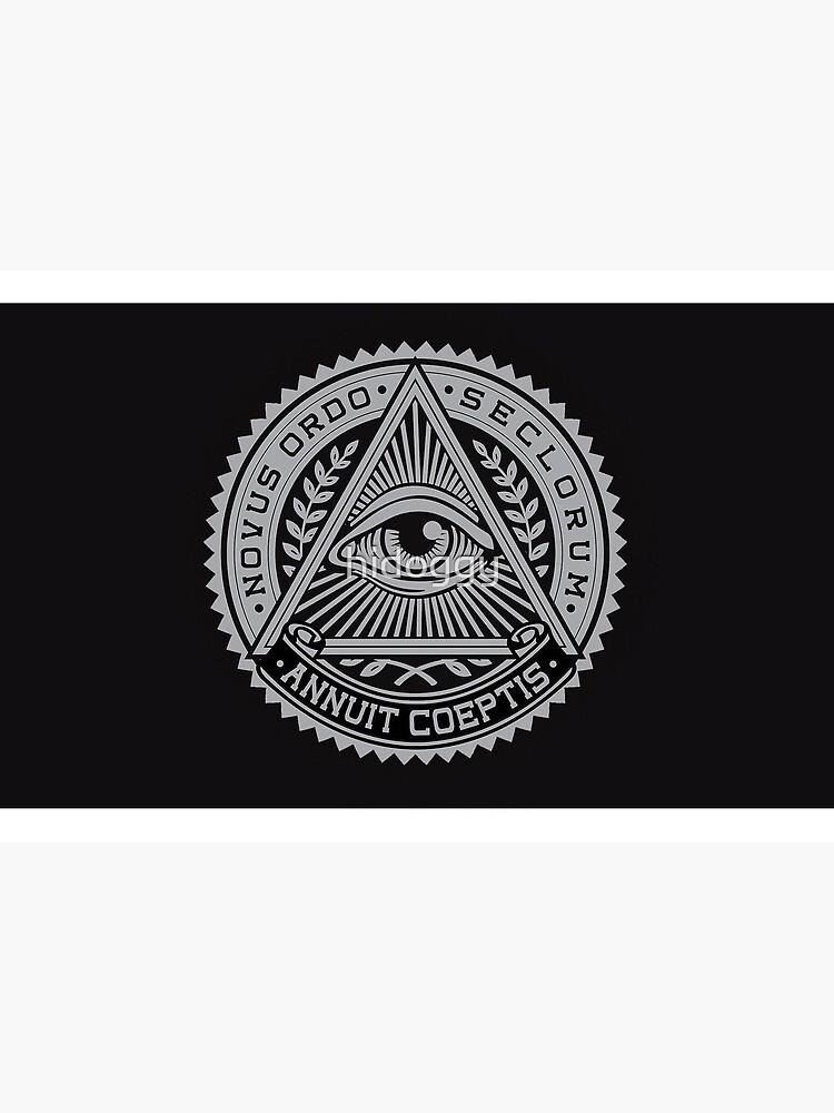 Illuminati Logo EYE | Covid mask by hidoggy